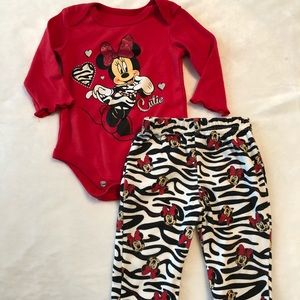 Baby girl Disney Minnie Mouse outfit